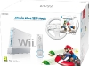 Nintendo Wii Console White with Mario Kart and White Wii Wheel and Wii Remote Plus Controller